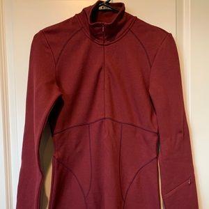 Athleta Cozy Knit Dress, Burgundy, Petite Small